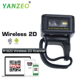 Yanzeo R1820 Portable Bluetooth Wearable Ring Wireless Finger Mini QR Bar 2D Barcode Scanner