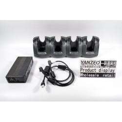 CRD3X01-4001ER para Zebra Motorola Cuna Ethernet de 4 ranuras Modelo MC30XX MC31XX con fuente de alimentación Cable de CC y cable de línea de CA