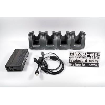 CRD5501-4000CR para Zebra Motorola 4-Slot Modelo MC55 MC65 Suministro de energía Cable de CC Cable de línea de CA de EE. UU.