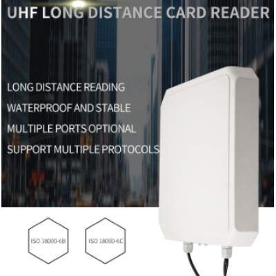 R169 9DBI 10M Long Range Integrated UHF RFID Reader Writer RS485 RS232 USB Waterproof 865~928MHz