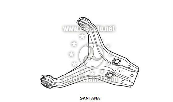 volkswagen santana braços de controle oem 8574071541c
