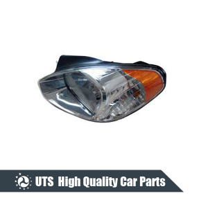 HEAD LAMP FOR ACCENT 06,MANUAL,YELLOW LENS