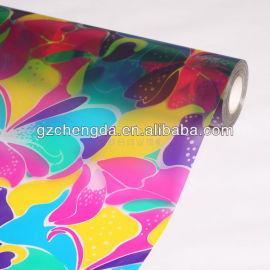 2013 venda quente da cor imprimir película de vidro para decoração