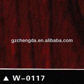 2013 quente vender bem vermelho octkt filme de pvc decorativo