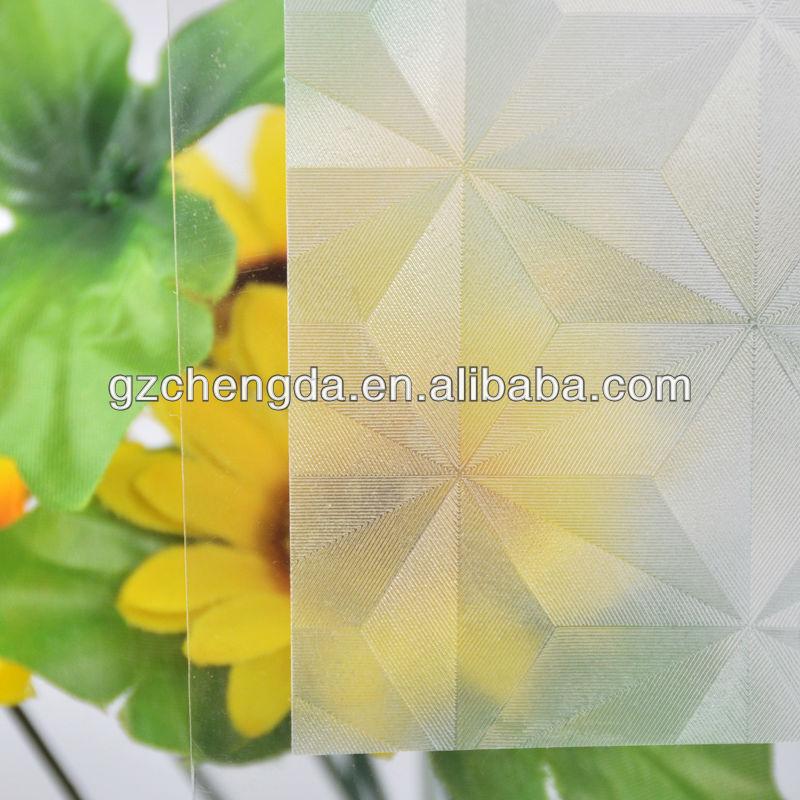 octki gravado película decorativa de vidro para o escritório