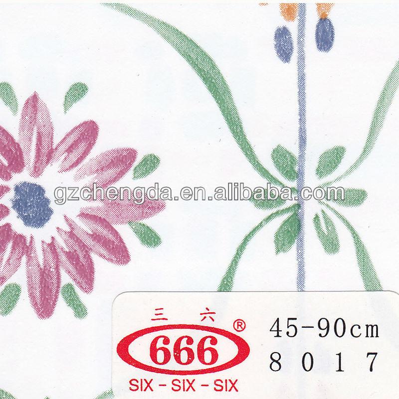 Flor de auto- adesivo de pvc film para vidro