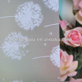 película de vidro decorativo