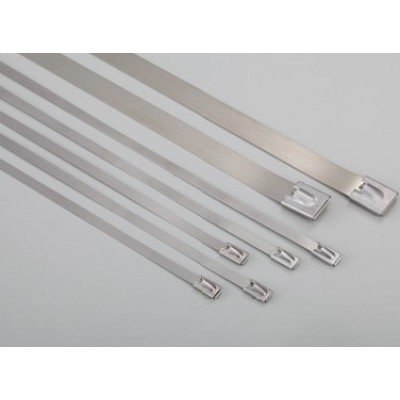 Ball Lock Stainless Steel Cable Ties 7.9mm Wide Band