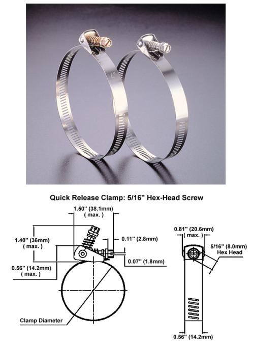 Quick Release Snaplock Clamps