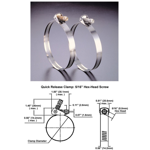 Quick Release Stainless Steel Clamps