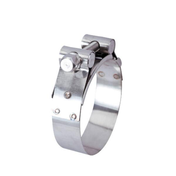 stainless steel heavy duty single bolt hose clamps