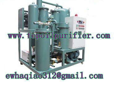 Hydraulic lubricating oil recycling machine degassification, dehydration and filtration