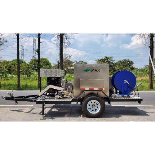 Sewer jetting trailer