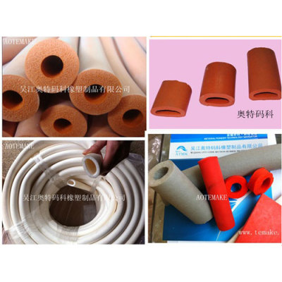 Silicone foam tube