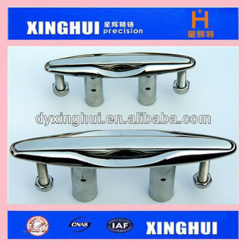 SS316 stainless steel marine cleat- flush cleat