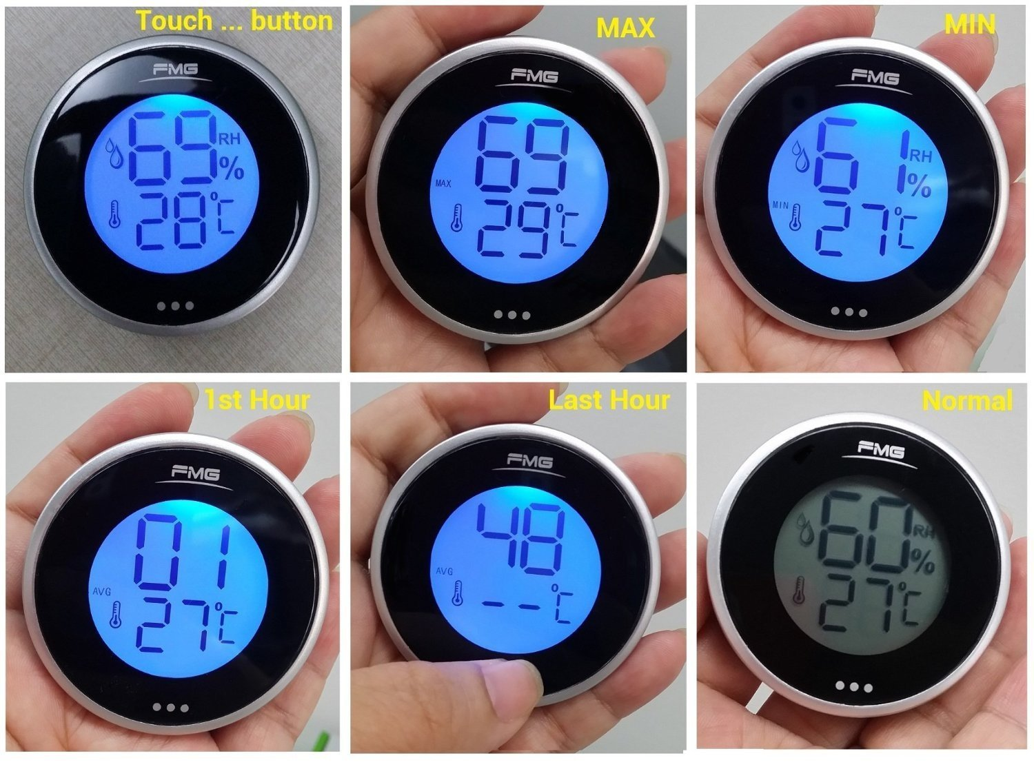 Digital Thermometer And Hygrometer For Cigars Humidor