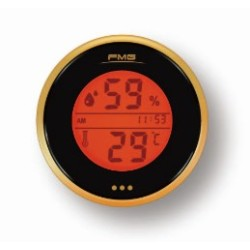 Digital Thermometer Hygrometer  Monitor Cigar Cigarette Guitar Ukulele  Box Fridge orange