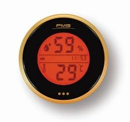 Digital Thermometer Hygrometer  Monitor Cigar Cigarette Guitar Ukulele  Box Fridge orange
