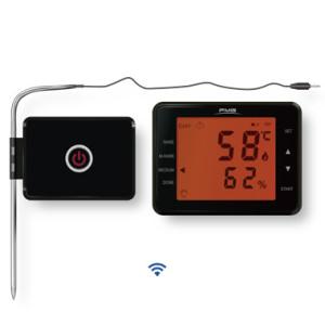 无线433Mhz烤肉烤箱烤炉温度计双不锈钢温度探针触摸屏LCD显示