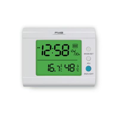 大屏幕闹铃多功能电子数字温湿度计带日历最大最小值温度单位转换显示功能