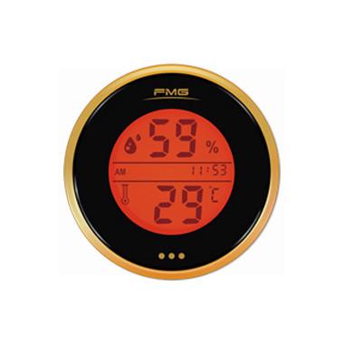 LED背光带时钟表盘电子数字温湿度计(橙色)