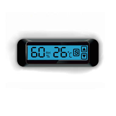 嵌入式面板安装温度湿度控制器带蓝色背光触摸按键防潮箱恒温恒湿箱使用