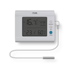 Indoor and outdoor temperature humidity desktop thermometer LCD display external 3meters sensor
