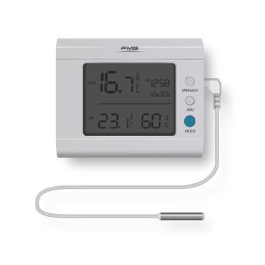 Indoor and outdoor temperature humidity desktop thermometer LCD display external 3meters sensor