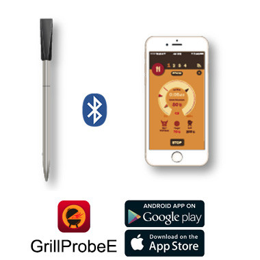 Bluetooth Wireless Barbecue Meat Thermometer USB Fast Charge with iOS & Andriod APP