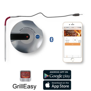 Round Shape Bluetooth Barbecue Thermometer App Mobile Operating Android & IOS