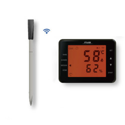 Wireless food BBQ Meat Smoker,oil milk coffee temperature kitchen thermometer with Big Display