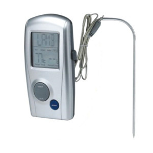 Digital BBQ meat thermometer wired connection with the probe for Oven Grill BBQ