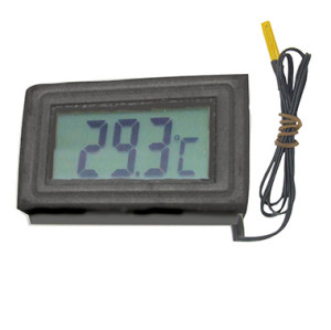 Mini  Panel Mount Digital Thermometer with LCD Display for fish tank