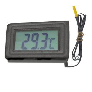 嵌入式面板安装温度计片状温度传感器内置电池或外接直流电源