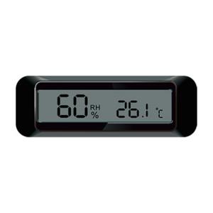 嵌入式面板安装电子数字温湿度计纽扣电池供电酒柜雪茄盒机电设备使用