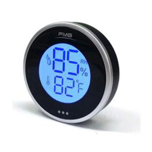 Dial Cigar Humidor Hygrometer Thermometer  with Clock and Backlight Touch LCD Screen