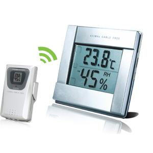 Wireless Thermometer Hygrometer with Three Remote Sensors for Restaurant,Pharmacy, Museum,Laboratory