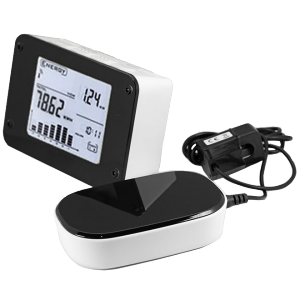 家庭电量电费二氧化碳消耗测量记录 节约电力能源30%, 无线传输数据 LCD液晶显示直方图实时显示电量数据