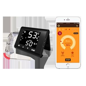 LCD触摸屏手机操作多探针蓝牙烧烤烤肉烹饪食物温度计