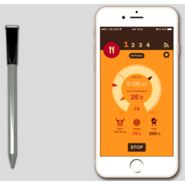 Smart Wireless Bluetooth BBQ Cooking meat Thermometer With Phone App