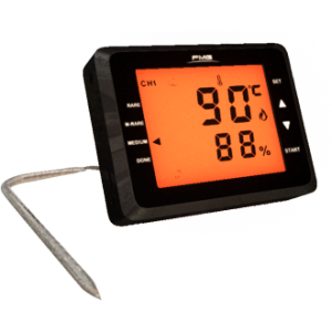 Barbecue Thermometer with Touch Screen Kitchen Oven Food Temperature Dual Stainless Probe