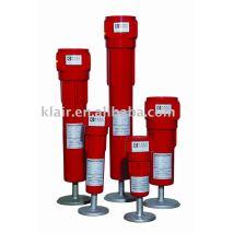 China filtro de aire comprimido 0.1 0.01 micras micras