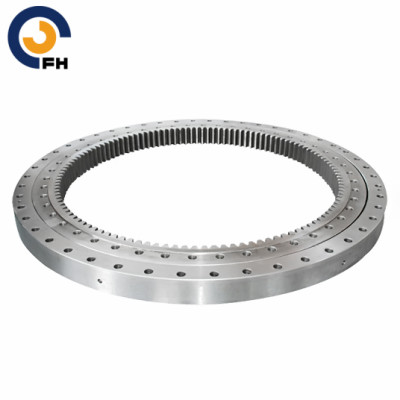 Single-Row Crossed Roller Mini Excavator Slewing Bearing
