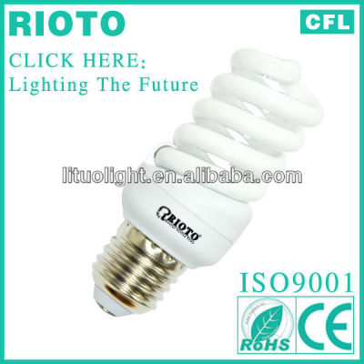 High quality T2 7mm 18w full spiral energy saving lamp CE