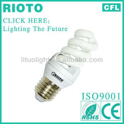 Globe sell low price T2 3w-15w E14 E27 Full Spiral Energy Saving Bulb