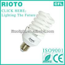 T4 12mm 20W E27 full spiral fluorescent lighting energy saving lamp CE.ROHS.SASO.ISO9001