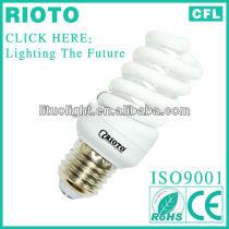 CE.ROHS.SASO.ISO9001 T5 17mm E27 energy saving lamps full spiral 200w 6400k cfl