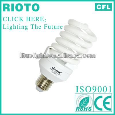 6000H and 8000H Lifespan T2 7mm 24W full spiral energy saver lamp CE BV ROHS SASO ISO9001 factory