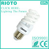 China manufacturer 220V 6000hours 9mm 7W E27 6400K full spiral Compact Fluorescent Lamp
