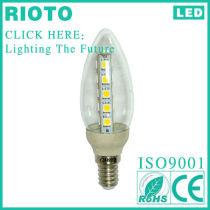 New Plastic 400LM 4W 2700K LED Candle Bulb